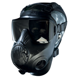 Avon Protection C50 Twinport Assembly, Single Mask (APR) Air Purifying Respirator, Scratch Resistant, with Optional Voice Projection Unit