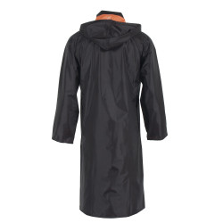 Neese 447RCH Reversible Uniform 48 Inch Long Coat, PVC/Nylon, Detachable Hood, Badge Tab, Waterproof, Black/Orange