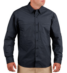 Propper F5326 HLX® Men's Long Sleeve Shirt, Uniform/Casual, 2 Chest Pockets, Polyester/Cotton, Low profile design, Adjustable Cuffs, available in Black, Khaki, and LAPD Navy