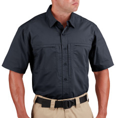 Propper F5370 HLX® Men's Short Sleeve Shirt, Uniform/Casual, 2 Chest Pockets, Polyester/Cotton, Low profile design, Adjustable Cuffs, Badge Tab, available in Black, Khaki, and LAPD Navy