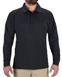 Propper® F5824 Men's EdgeTec Long Sleeve Polo, Uniform/Casual, Polyester/Spandex, available in Black, Heather Grey, and LAPD Navy