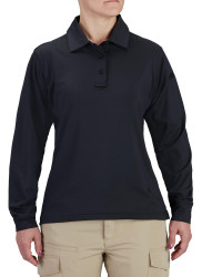 Propper® F5825 Women's EdgeTec Long Sleeve Polo, Uniform/Casual, Polyester/Spandex, available in Black, Heather Grey, and LAPD Navy