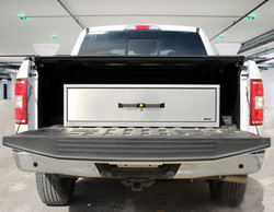 OPS Universal Truck-Bed Storage Unit, Aluminum Weathertight Single Drawer, 13 inches tall, Choose 30 40 or 48 Inches Wide, Fits Ford, Chevy, Dodge, and more, TBU-13-XX-48-001