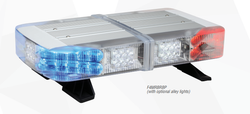 Whelen Mini Freedom IV LED Light Bar, Permanent or Magnetic Mount, Optional Opticom