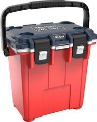 Pelican 20QT Americana Elite Cooler,  with Press and Pull Latches, and Integrated Cup Holders, 19x13x18, 15 lbs
