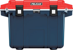 Pelican 50QT Americana Elite Cooler with Press & Pull Latches, Integrated Cup Holders, and Built-in Bottle Opener, 30x21x21, 27 lbs