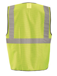 Occunomix ECO-GCS High Visibility Value Mesh Surveyor Safety Uniform Vest with 2 inch silver reflective tape, 100% Polyester, available in Yellow and Orange