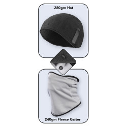 Occunomix BAL-2X2-BG 2-Piece Balaclava, Black/Gray