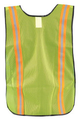 Occunomix LUX-XTTM Value Mesh Two-Tone Vest with 1 inch reflective tape, available in Yellow and Orange