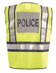 Occunomix LUX-PSP Premium Solid Public Safety Police Uniform Vest with 2 inch silver reflective tape, 1 badge holder, 100% Polyester, 1 chest pocket, Yellow