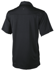 Tru-Spec 1456 Men's ECO TEC Knit Camp Short Sleeve Shirt, Uniform or Casual use, 100% Polyester, 1 Chest Pocket, available in Black, Navy, Steel Grey, and Silver Tan