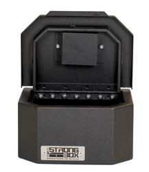 BOSS StrongBox 7408 Universal Vehicle Pistol Safe Box, Key Lock, Handgun Storage, 10x8x5, includes foam lining