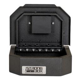 BOSS StrongBox 7409 Universal Vehicle Pistol Safe Box, Key Lock, Handgun Storage, 10x8x3, includes foam lining