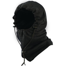 Occunomix 1070FR-06 Premium Flame Resistant 3-in-1 Fleece Uniform or Casual Balaclava, Black