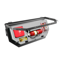 Lund Industries LOFT-RESQ Rescue Equipment and Gear Compartment with Custom Foam Cutouts, storage for safety gear, fits in the space above the window line, fits Tahoe, FPIU, Durango, Expedition