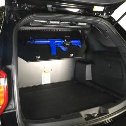 Lund Industries LOFT-GV Gun Vault Compartment, secured weapon storage, designed for AR-15/M-4 Rifles, fits Tahoe, FPIU, Durango, Expedition