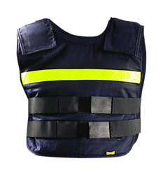 Occunomix PC1 Flame Resistant Classic Phase Change Cooling Vest & Packs with Yellow gloss reflective tape, Navy Blue