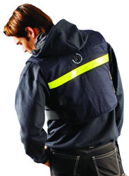Occunomix PCV1 Flame Resistant Classic Phase Change Cooling Vest with Yellow gloss reflective tape, Navy Blue