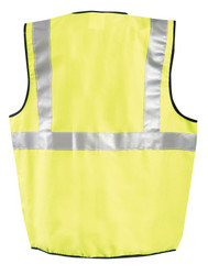 Occunomix LUX-SSCGFR Classic Flame Resistant Polyester/Cotton Single Stripe Solid Vest with 2 inch silver reflective tape, Yellow
