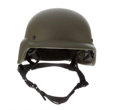 United Shield PASGT/PST Ballistic Helmet for Law Enforcement and Military, NIJ Level IIIA Protection, wide cut around the ears and collar to reduce interference from other equipment