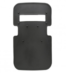 "United Shield Assault Ballistic Shield, NIJ Level IIIA Protection, Standard 4"" x 16"" Viewport, Optional Led light, NY tri-grip handle, Dual Circular Arm cut out, for Military and Law Enforcement"