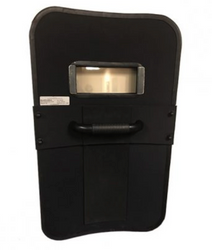 United Shield Lightweight Ballistic Shield, NIJ Level III+ Protection, Multi-strike protection, Curved construction, Optional Viewport and LED lights, Available in multiple sizes and two different shapes, for Military and Law Enforcement