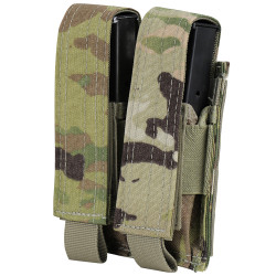 Condor Outdoor MA23-800 Double Pistol Mag Pouch, Compatible with most pistol magazines, Scorpion OCP Pattern