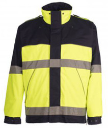 Spiewak S588VT VizGuard Two-Tone Responder Hi-Viz Parka, Uniform, Reflective, waterproof, windproof, adjustable cuffs, available in Navy Blue / Yellow, Black / Yellow, Brown / Yellow, Black / Red, Optional Drop-Down Panels (2 Front, 1 Back)