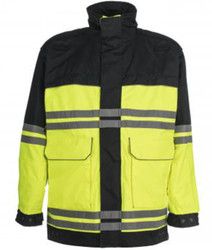 Spiewak S588VTR VizGuard Two-Tone Responder EMS Hi-Viz Parka, Uniform, waterproof, windproof, Badge Tab, available in Red / Yellow, Navy Blue / Yellow, Navy Blue / Navy Blue, Black / Red, Optional Drop-Down Panels (2 Front, 1 Back)