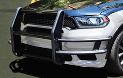 GO RHINO Dodge Durango 2019-2020 Push Bumper, LED Warning Light Ready, Optional Brush Guard Wrap, Steel, choose Texture or Gloss, includes Intersection Warning Light Mounting Brackets
