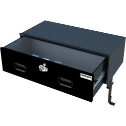 TruckVault Chevy Impala Elevated Series Drawer Storage Unit, 1 Drawer, Choose 6-10 inches Height, Includes 1 Short Divider, Additional Divider Option, Includes Combo Lock, Interior Carpet, and Elevated Bracket