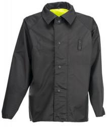 Spiewak S308VR VizGuard® Short Reversible Duty Rain Jacket, Uniform, Waterproof, Lightweight, With Badge Tab, Black / HV Yellow