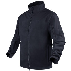 Condor Outdoor 101096 Bravo Fleece Jacket, Uniform or Casual, 100% Polyester, available in Black, Navy Blue, Olive Drab Green, and Tan Brown