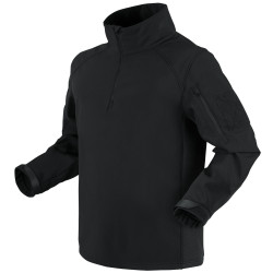 Condor Outdoor 101185 Patrol Quarter-Zip Soft Shell Pullover, Uniform, 100% Polyester, Adjustable Cuffs, available in Black, Navy Blue, Tan Brown, and Olive Drab Green