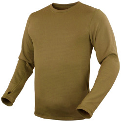 Condor Outdoor 101228 Base Layer Pullover, Uniform or Casual, Polyester/Spandex, Lightweight, available in Black, Tan Brown, and Olive Drab Green
