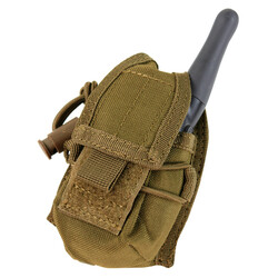 Condor Outdoor MA56 HHR Pouch with Multiple carrying options: MOLLE, Belt, Carabiner, Drawstring with cord lock, available in Black, Coyote Brown, and Olive Drab Green