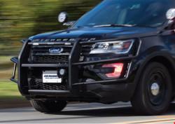 GO RHINO Ford Police Interceptor Utility 2020+ Push Bumper, 5000 Series, Optional Brush Guard Wrap, Steel, choose Texture or Gloss