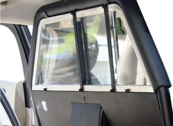 GO RHINO Chevy Tahoe 2015-2020 Prisoner Transport Package, Front-Facing Sliding Cage Partition, Molded Rear Prisoner Seat, C/Belt, Poly Screen, Poly Cargo Rear Partition Barrier, Window Guard, Recessed Storage, Lower Extension Panels, Steel, Texture