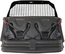 GO RHINO Chevy Tahoe 2015-2020 Prisoner Transport Package includes: Front & Rear Partitions, AEDEC Molded Rear Prisoner Seat with Seatbelt System, Window Guards, Hardware