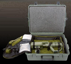 Garrett RECON-PRO AML-1000 (All Metals Locator), Mine / ERW Detector, Waterproof, 1220000, 20cm open coil search head, tactical headset, charging set, batteries (2 sets), back pack, hard case, test piece, field guide, operational manual, DVD