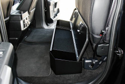 "OPS Ford F-Series Under Rear Seat Lockbox, 8.5""H x 55""W x 13""D, Dual Lid Access, 16 Gauge steel construction, Durable texture powder coat finish"