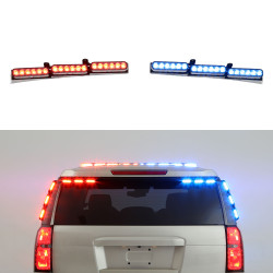 Whelen Outer Edge Chevy Tahoe 2021+ Rear Facing Upper Exterior Mount Light Bar, ION SOLO or DUO LEDs, includes Traffic Advisor Functionality, choose OEL-54 LC or OEW-54 WeCan