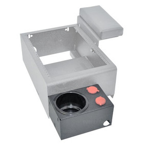 Caprice Cup Holder with Two 12v Outlets External Mount by Jotto Desk