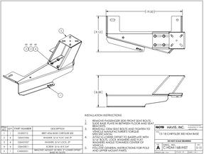 Havis (Dodge Charger, 2011-2019) Laptop, Tablet, Keyboard Stand, Package, Kit, Part # PKG-PSM-168