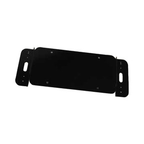 Code-3 License Plate Bracket with 2 Inch Offset of Vertical Light Head Mounting, Dodge Charger 2015+ Fits T-REX, XTP3, MR6, and LED X Light heads LXEXLPBKT-CH15