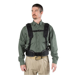 """BLACKHAWK INITIAL RESPONSE """"H"""" HARNESS, Padded shoulder straps with reflective gray piping, Helps distribute belt weight evenly, Black, 35ES00BK"""