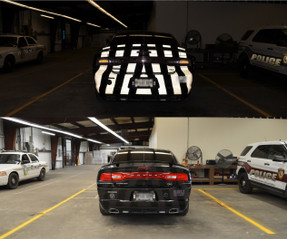 Law Enforcement and Emergency Vehicle Ghost Chevrons Graphics with 3M Reflective Decal Stripes, fit Cars, SUV's, Trucks, Vans