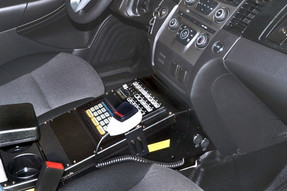 Havis Ford Law Enforcement Interceptor Sedan and Taurus Console 14 Inches 2013 to 2019, includes faceplates and filler panels