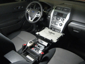 Havis Ford Law Enforcement Interceptor Utility SUV Explorer Console 21 Inch 2013 to 2019, includes faceplates and filler panels
