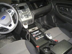 Havis Ford Law Enforcement Interceptor Sedan Taurus Console 23 Inches 2013 to 2017, includes faceplates and filler panels